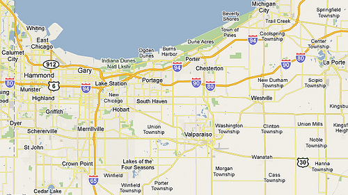 Map Of Northwest Indiana Compressportnederland