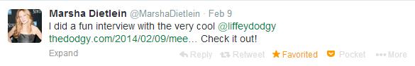 Marsha Dietlein Interview Twitter image