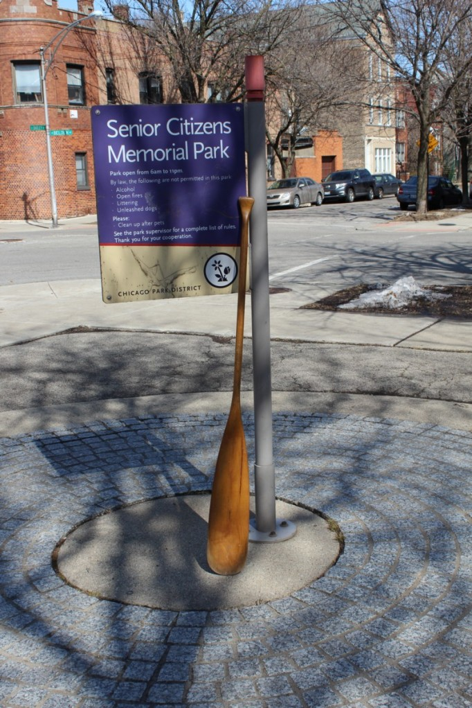 The Oar at Senior Citizens Memorial Park in Bucktown
