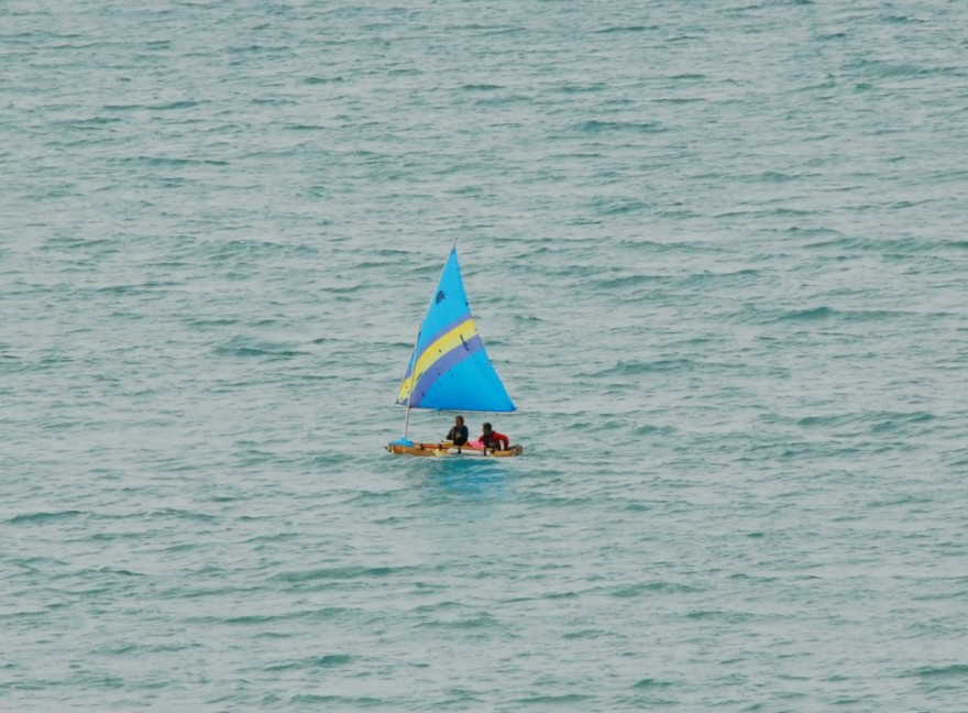 Amy Lukas and Mary Catterlin navigate around Lake Michigan in a dugout canoe