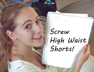 Dodgy Fashion high waist shorts