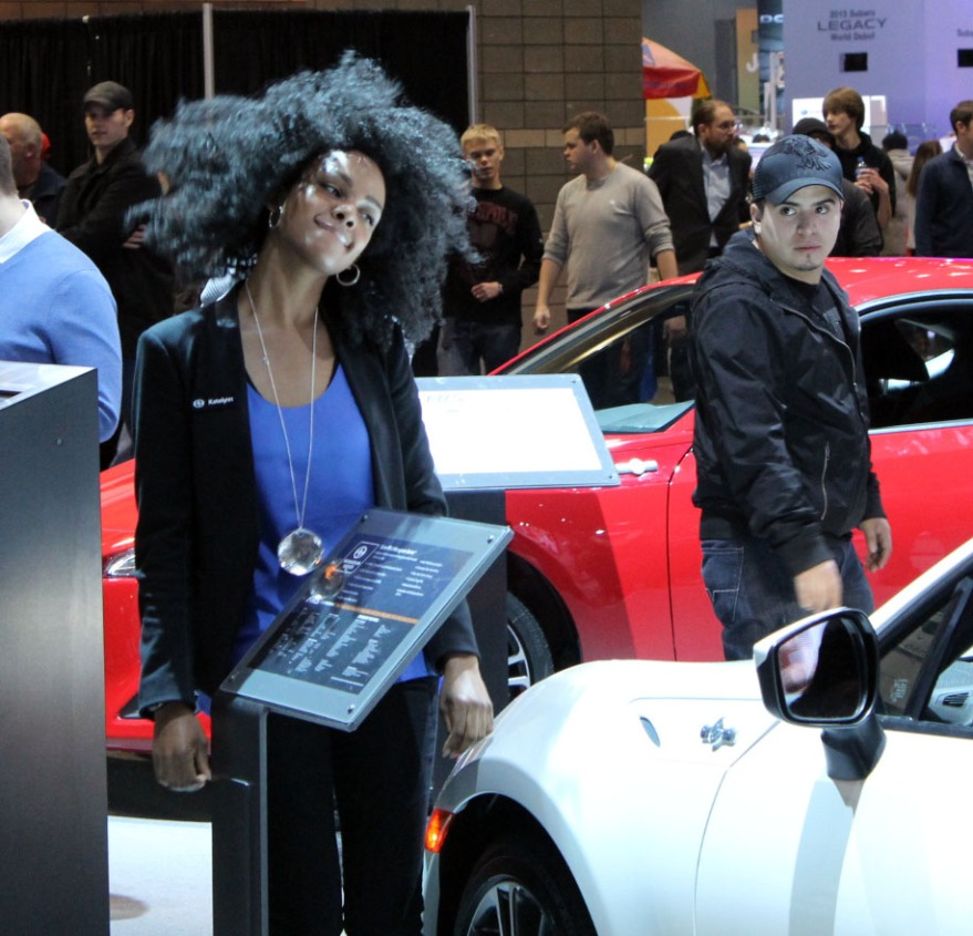 Auto-Show-Fashion girl picture