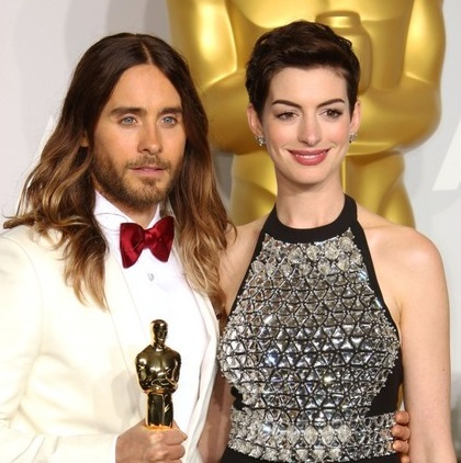 Jared Leto and Anne Hathaway image